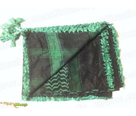 Grand foulard Palestinien (Keffieh) de couleur Noir et Vert