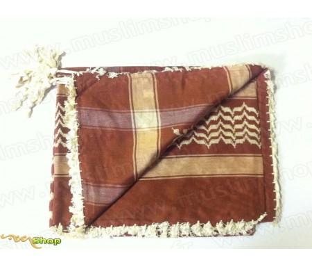 Grand foulard Palestinien (Keffieh) de couleur Camel