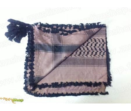 Grand foulard Palestinien (Keffieh) de couleur Mauve