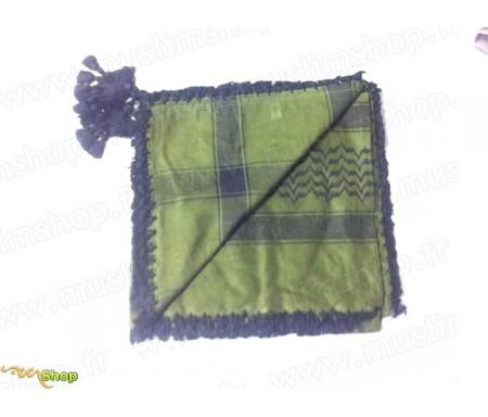 Grand foulard Palestinien (Keffieh) de couleur Vert Olive