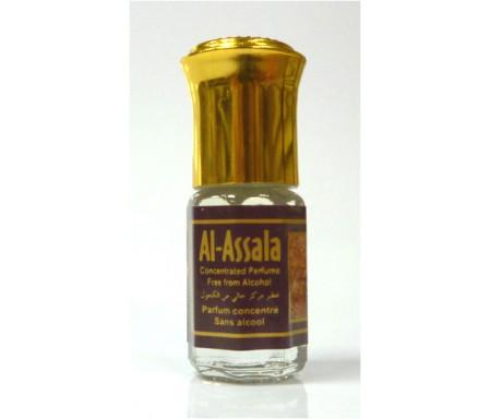 """Parfum concentré sans alcool Musc d'Or """"Al-Assala"""" (3 ml) - Pour hommes"""