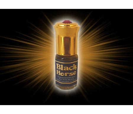 """Parfum concentré sans alcool Musc d'Or """"Black Horse"""" (3 ml) - Pour hommes"""