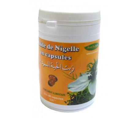 Huile de Nigelle Bio en capsules - Complément alimentaire (pot de 60 gélules de 500 mg)