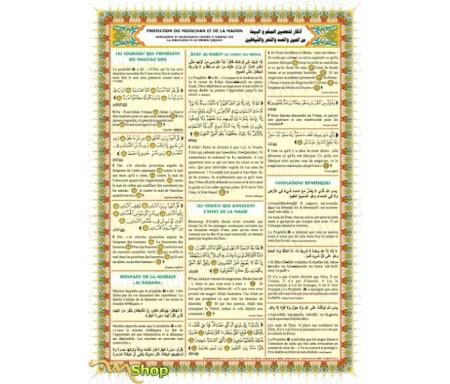 Poster : Protection du musulman et de La maison - Invocations contre le mauvais œil, la sorcellerie et les démons (Djinns)