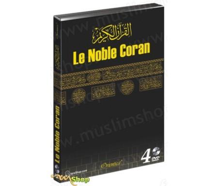 Le Noble Coran (Coffret 4 DVD - Les prières de Tarawîh complètes - 60 Hizb - avec affichage des versets en arabe et traduction f