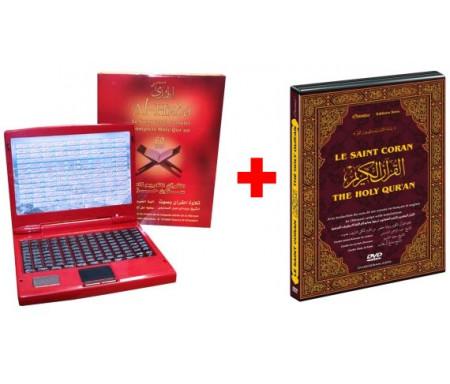 Pack : Ordinateur Al-Houda contenant Le Saint Coran complet (60 hizb) + DVD Le Saint Coran complet (Cheikhs Soudays et Chouraym)