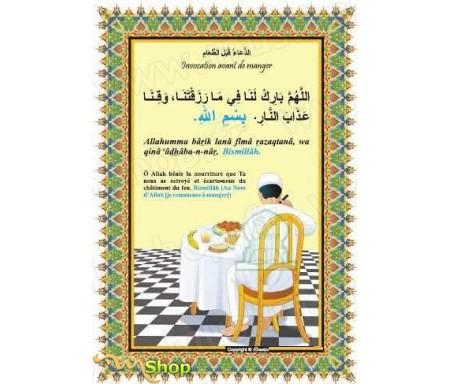 Autocollant : Invocation avant de manger