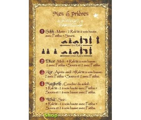 """Carte postale """"Mes cinq prières"""""""