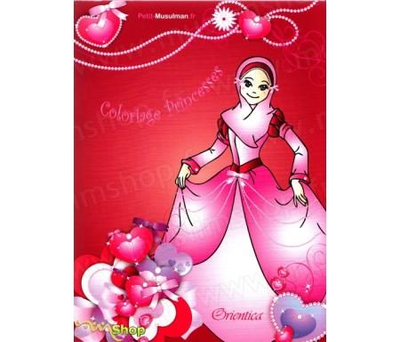 Coloriage Princesses (Pour filles - Bilingue français/arabe) - تلوين الأميرات
