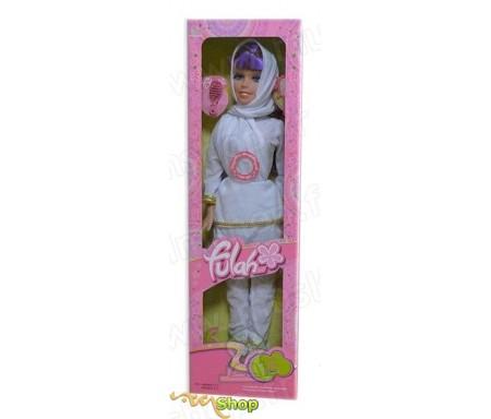 Grande poupée Fulah avec accessoires et chante Ya Tayba (Vêtements islamiques Blancs ou Noirs)