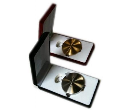 Lot de 2 boussoles métalliques haute précision dorée + argentée dans boites velours