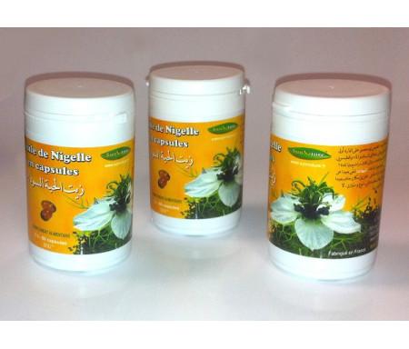 Lot de 3 boites : 3 x 60 Capsules Huile de Nigelle Bio - Complément alimentaire