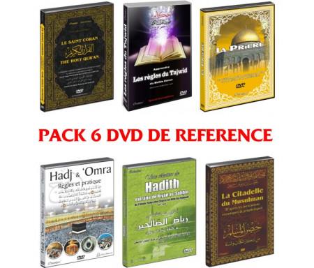Pack 6 DVD de Référence : Le Saint Coran - Le Tajwîd - La Prière - Le Hajj - Les Hadiths - Les invocations