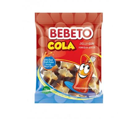 Bonbons Halal Drink Cola - Fabriqué avec du Vrai Jus de Fruit - Bebeto - Sachet 80gr