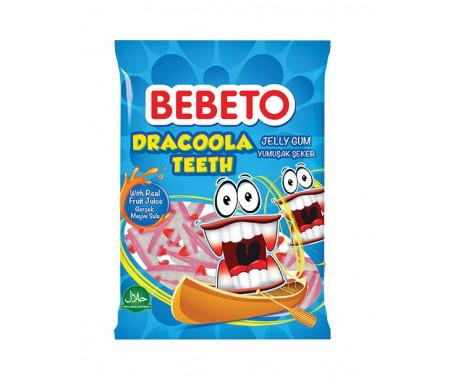 Bonbons Halal Dents de Vampire - Fabriqué avec du vrai Jus de Fruit - Bebeto - Sachet 80gr