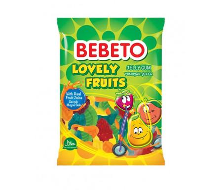 Bonbons Lovely Fruits (Amour de Fruits) - Fabriqué avec du vrai Jus de Fruit - Bebeto - Sachet 80gr