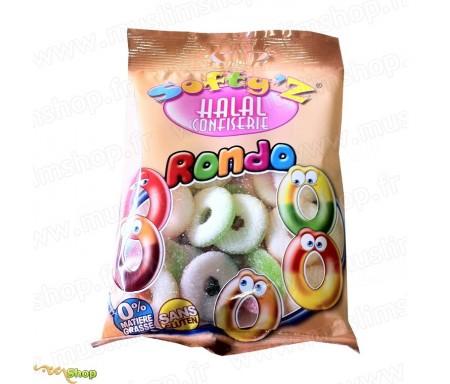 Bonbons Softy's Halal - Rondo Anneaux sucrés (100g)