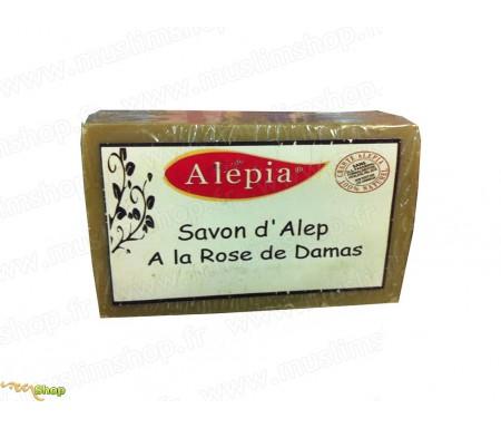 Savon d'Alep à la rose de Damas