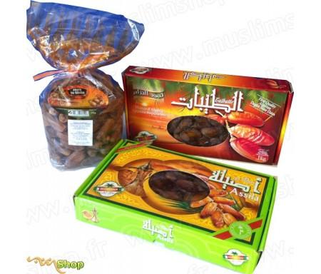 Pack Ramadan Dattes Fraiches Deglet Noor d'Algérie de Qualité supérieure - Assila & Taïbatte + Dattes Mi-sèches