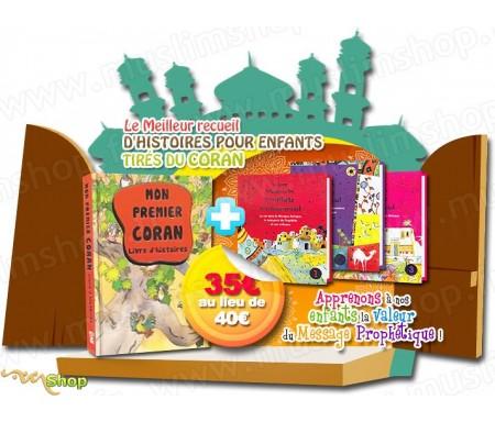 """Pack 4 livres """"Mon premier Coran"""" + """"Histoires du Prophète"""""""