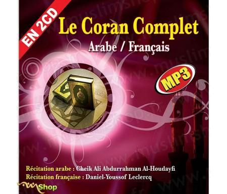 Le Coran Complet Arabe/Français au Format MP3 par Cheikh Al-Houdhayfi (2CD)