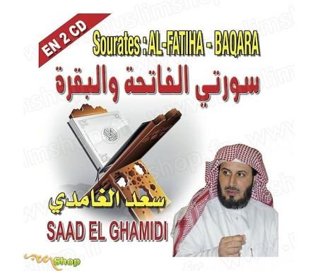 Sourates Al-Fatiha & Baqara en 2CD - Récité par Saad El Ghamidi