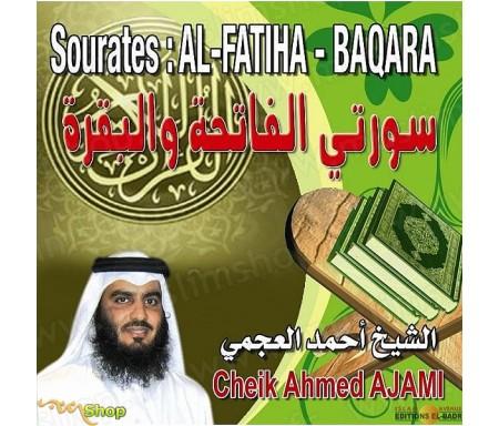 Sourates Al-Fatiha & Baqara en CD - Récité par Ahmed AJAMI