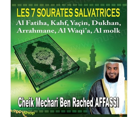 CD - Les 7 sourates salvatrices par Cheik Mechari Ben Rached Affassi