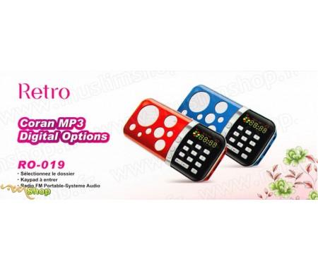 Lecteur Coran MP3 avec Micro SD Card - Lecteur FM - Digital Options RO-019