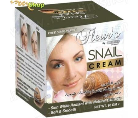 Crème soin visage à la bave d'escargot Hemani Fleur's - 100g
