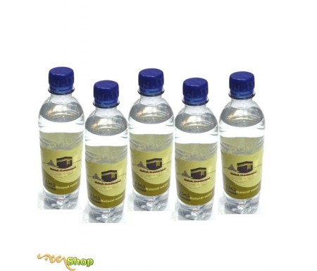"""Pack de 5 bouteilles d'Eau de ZamZam """"Makkah Al-Mukarramah""""- 500ml"""