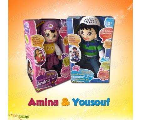 Pack de 2 poupées Musulmanes Amina + Yousouf