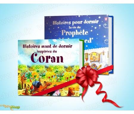 """Pack 2 livres """"Histoires pour dormir"""" (La vie du Prophète Mohammed et Histoires du tirées du Coran)"""