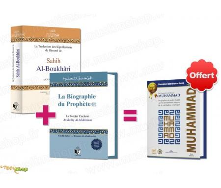 """Pack 2 livres """"Signification du Résumé du Sahih Boukhari"""" + """"Nectar cacheté"""" = 1 livre Cadeau"""