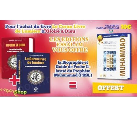 """Pack 2 livres """"Gloire à Dieu - Vérités scientifiques du Coran"""" + """"Le Coran, Livre de Lumière"""" = 1 livre Cadeau !"""