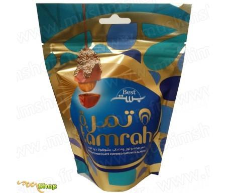 Tamrah - Dattes aux amandes enrobées de Chocolat coco - 100gr