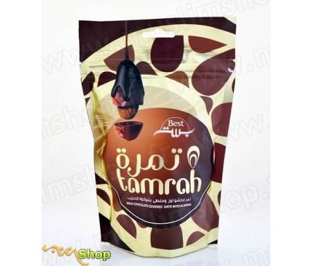 Tamrah - Dattes aux amandes enrobées de Chocolat au lait - 100gr