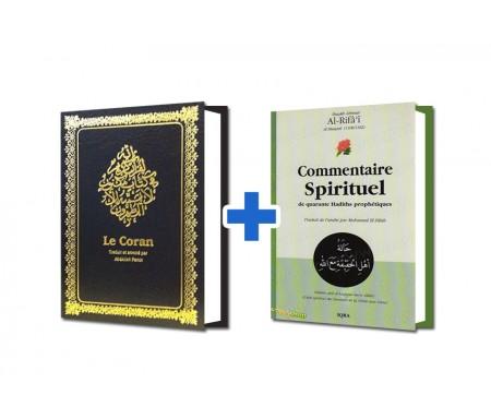 Coran Grand Format Couverture Souple + Commentaire Spirituel de 40 Hadiths Offert