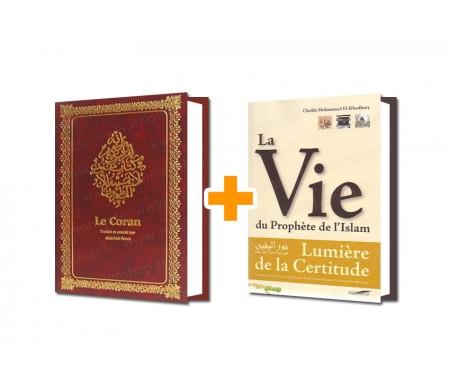 Grand Coran cartonné Reliure Cuir + Lumière de la Certitude (Sîra) Offert