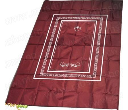 Tapis de prière Salmane avec boussole - Couleur Bordeaux
