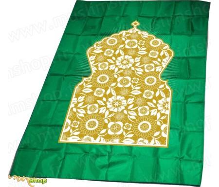 Tapis de prière Salmane avec boussole - Couleur vert