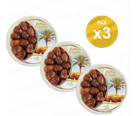 Pack de 3 boîtes Découverte de Dattes d'Arabie Sukary / Sokary - 500gr