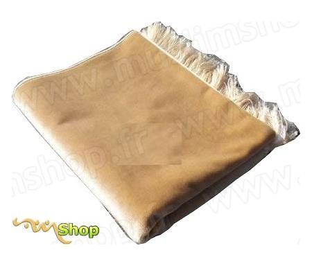 Tapis de Prière Velours Luxe couleur uni - Jaune sable
