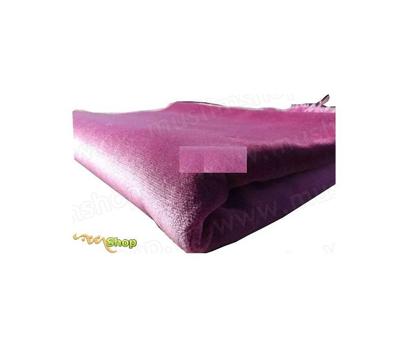 tapis de pri re velours luxe couleur unie rose par chez kadifeteks sur. Black Bedroom Furniture Sets. Home Design Ideas