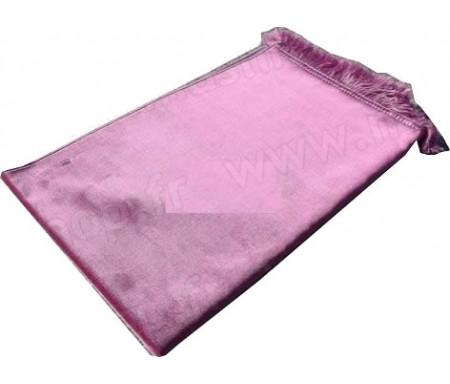 Tapis de Prière Velours Luxe couleur unie - Rose