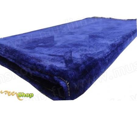 Tapis de Prière Velours couleur uni - Bleu Azur