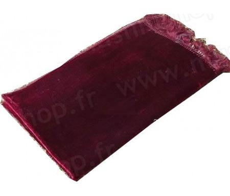 Tapis de Prière Velours couleur uni - Rouge Grenat