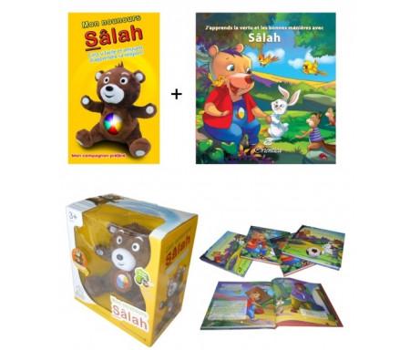 """Pack Nounours Sâlah + Livre """"J'apprends la vertu et les bonnes manières avec Sâlah"""" Tome 1"""