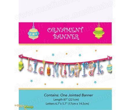 "Banderole décoration ""Eid Mubarak"""