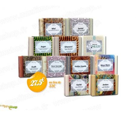 """Pack """"Culture et Tradition"""" de 11 savons solide"""